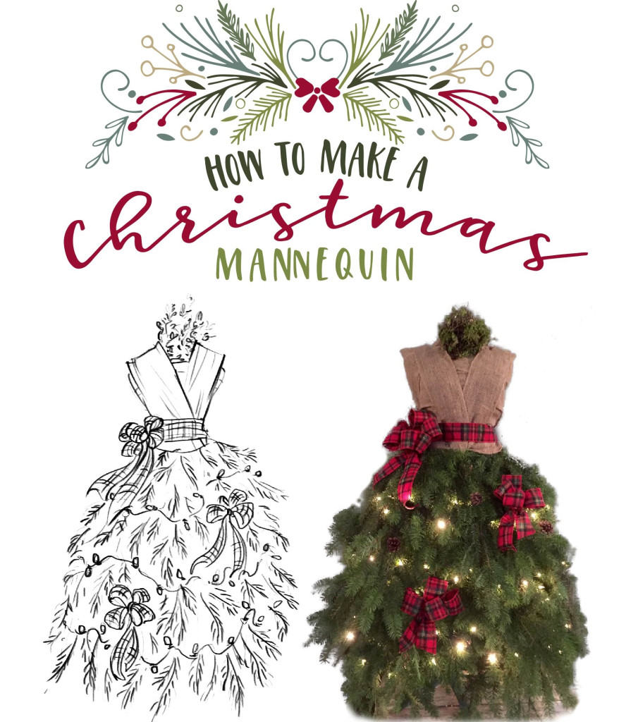 How to make a Christmas mannequin: Creative Christmas decorations