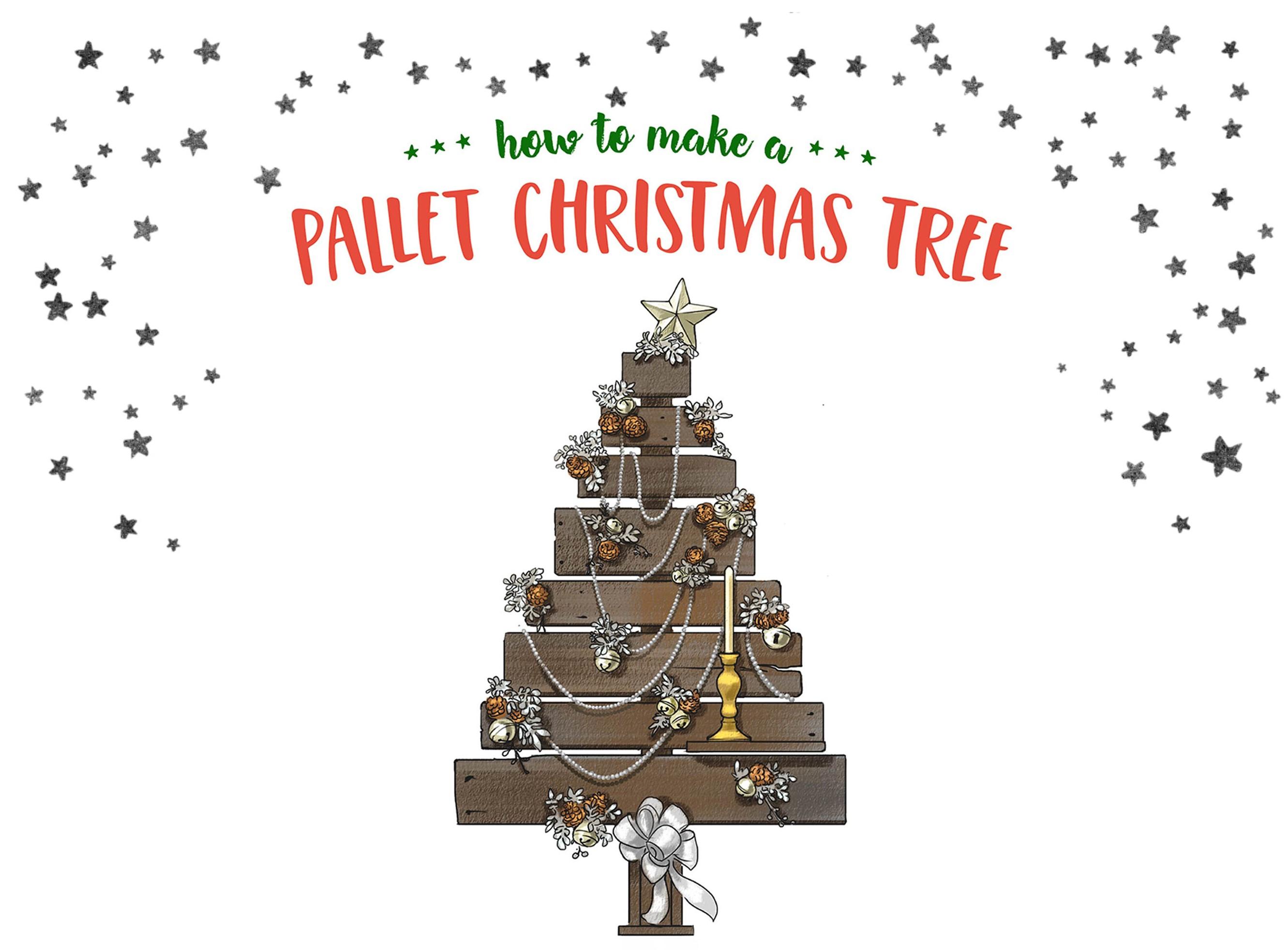Pallet Christmas tree tutorial