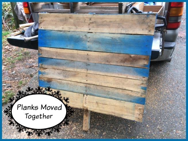 pallet tree planks moved together