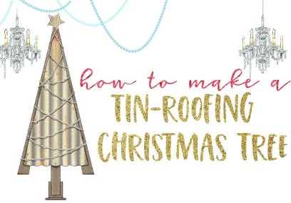 How To Make a Tin Roofing Christmas Tree