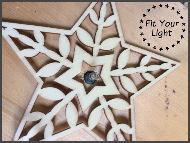 wood christmas tree light2 frame