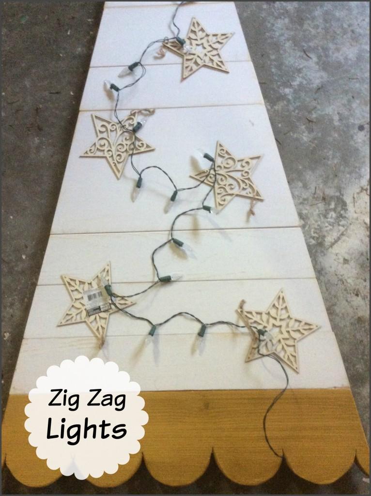 wooden tree lights frame