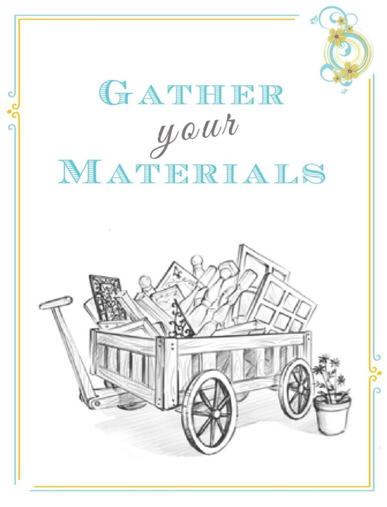 Gather Your Materials - Potting Bench