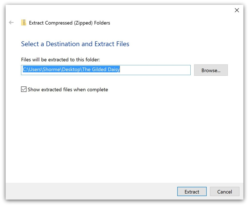 how to unzip a file in windows