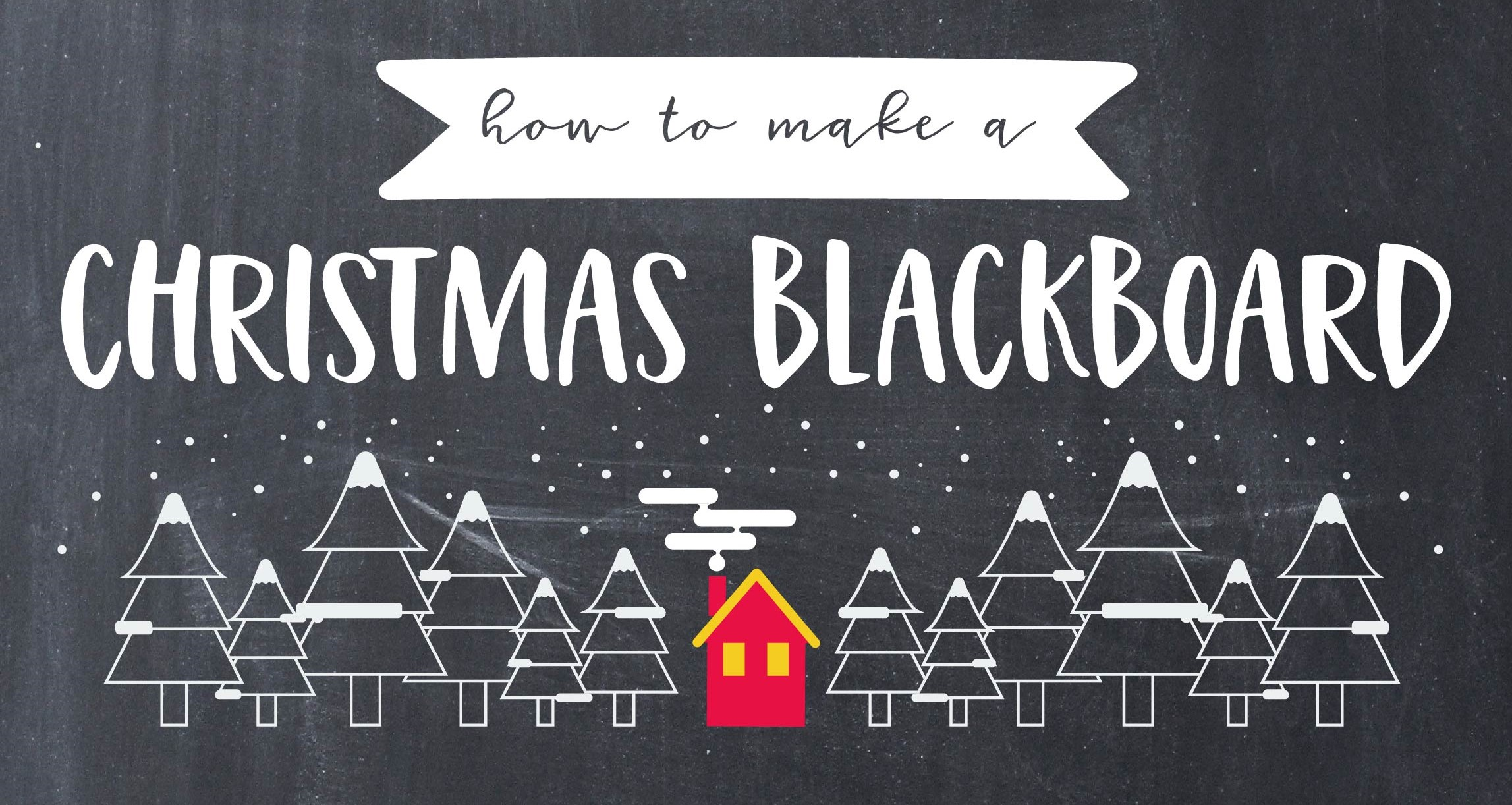 Christmas blackboard transfer tutorial