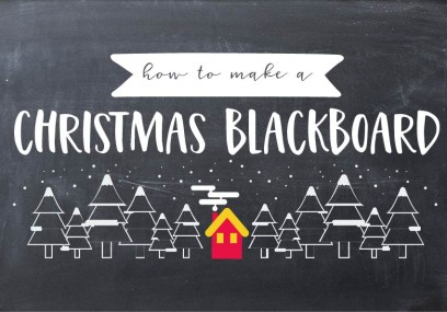 How To Make A Christmas Blackboard